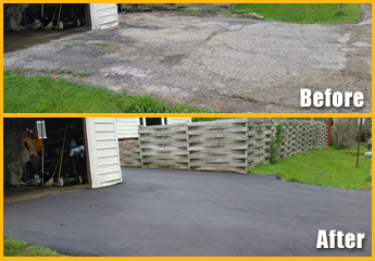 Asphalt Before and After